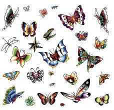 flying butterflies on back