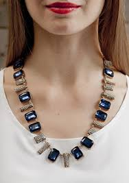 blue fashion necklace images Statement jewelry on trend bold happiness boutique jpg