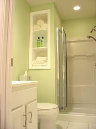 exquisite modern small light green bathroom decoration using in