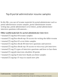 resume templates for administrative officers exams results portal top8portaladministratorresumesles 150529140051 lva1 app6892 thumbnail 4 jpg cb 1432908417