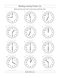 analog clock worksheets free worksheets library download and
