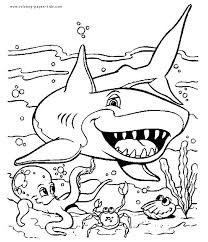 25 shark coloring pages ideas sharks kids