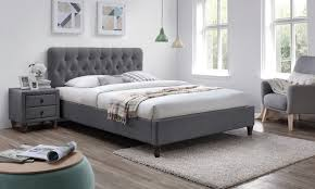 Grey Bed Frame Up To 71 Grey Fabric Bed Frame Groupon
