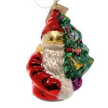 christopher radko oh christmas tree blown glass ornament santa