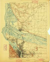 a map of portland oregon 1897 topographic map of portland or