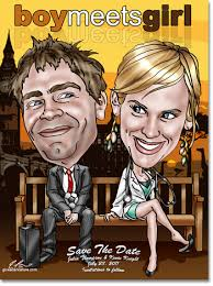 Best Save The Dates Caricatures Wedding Save The Date Cards Caricature Invitations