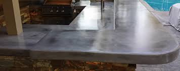 concrete countertop styles design outdoor kitchen concrete