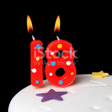 cool birthday candles 18th birthday candles stock photo more pictures of anniversary
