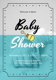 baby shower posters create baby posters online fotojet