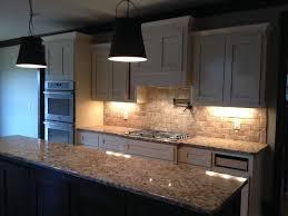 Willson Custom Home Plan Kitchen At Brick Backsplash Install - Custom backsplash