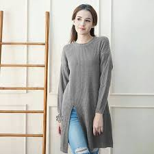 slit sweater jual slit sweater abu tua namii shop