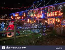 Westfield Christmas Xmas Lights East Sussex Uk Stock Photo 41744206
