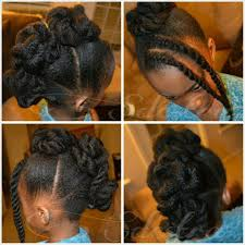 twisted frohawk on natural hair no heat children u0027s hair style