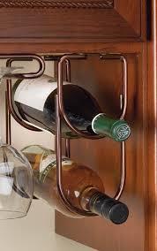 Under Cabinet Wine Racks Wine Bottle Rack Double Under Cabinet Organizer 4 1 4