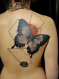 modern style colored back of large butterfly with