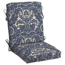 Plantation Patterns Seat Cushions by Paisley Outdoor Cushions Patio Furniture The Home Depot