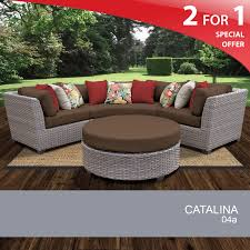 Modular Wicker Patio Furniture - 4 piece outdoor furniture set grey wicker patio furniture