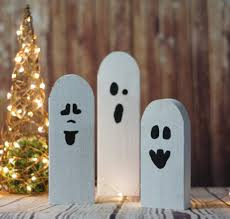 halloween primitive decor 3 reclaimed wood primitive halloween ghosts u2013 gft woodcraft
