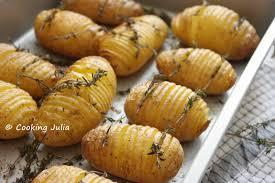 cuisiner pommes de terre cooking pommes de terre hasselback