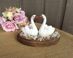 swan wedding swan cake topper etsy