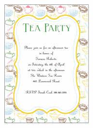 Invatations Free Printable Tea Party Invitations Cimvitation