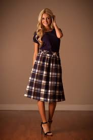 plaid skirt navy plaid skirt by mikarose modest dresses modest