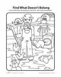 what doesn u0027t belong farm farms worksheets and farming