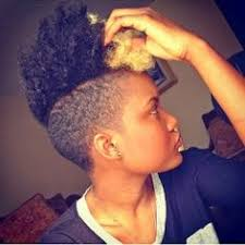 black natural hair with shafed sides natural hair tapered cut shaved sides twistout using