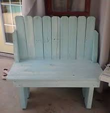 distressed white and black bench creativity made or painted by
