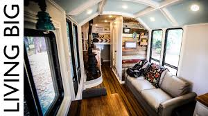 Home by Bus Converted To Incredible Off Grid Home Youtube