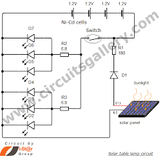 simple solar table lamp circuit for your home circuits gallery