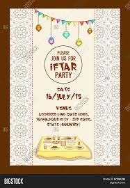 Date Invitation Card Holy Month Of Muslim Community Ramadan Kareem Iftar Party
