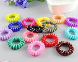 ponytail holders cheaper telephone plastic strong elastic hair bands for girl