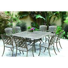 8 Piece Patio Dining Set - darlee sedona 9 piece cast aluminum patio dining set mocha