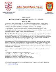 Blizzard Resume Lakes Region Mutual Fire Aid Association