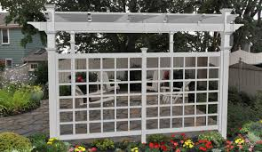 vinyl pergola privacy trellis new england arbors
