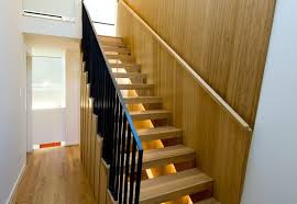 wood stair treads staircase modern with hand rail contemporary