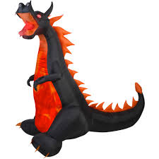 halloween inflatable ghost gemmy airblown inflatable 7 u0027 x 7 5 u0027 dragon with lights and