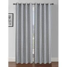 Light Grey Shower Curtain Window Elements Semi Opaque Jasper Printed Faux Silk 84 In L