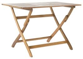 Acacia Wood Outdoor Furniture by St Nevis Outdoor Acacia Wood Foldable Dining Table Transitional