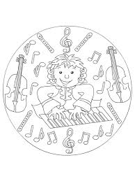kids fun 62 coloring pages musical instruments