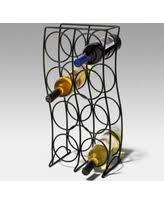 summer special spectrum curve 8 bottle wine rack black