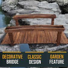 new wooden garden bridge classic design walkway outbaxcamping