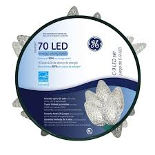 ge c9 70 ct led faceted warm white string lights on