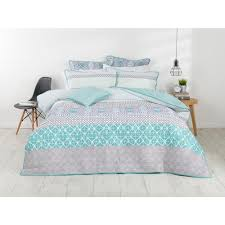 Blue Spot Duvet Cover Koo Elite Asher Printed Quilt Cover Set