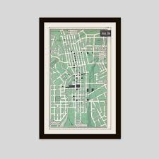 Akron Ohio Map Akron Ohio Map Vintage Map City Map Street Map 1950s 2