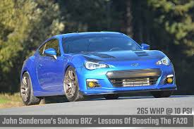 supercharged subaru brz john sanderson u0027s subaru brz lessons of boosting the fa20