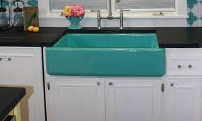 Colored Sinks Kitchen Need A Pop Of Color In Your Kitchen Try Kohler S Apron Front Sinks