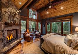 a master bedroom fit for the king of the mountain featuring a