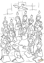 descent of the holy spirit at pentecost coloring page free